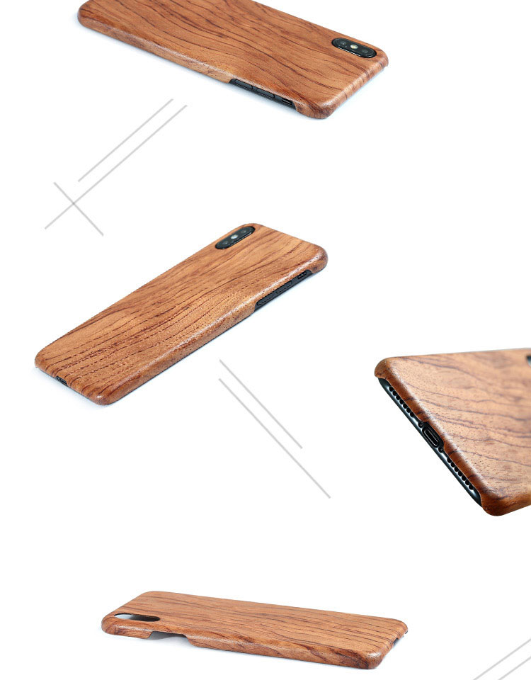 Image 5 - For Apple iPhone 11 Pro X XS Max XR walnut Enony Wood Rosewood MAHOGANY Wooden Back Case CoverFitted Cases   -