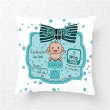 Персонализированные Рождественский Подарок Подушка Чехол ребенка память декоративная наволочка для подушки мягкие полиэфира Подробная информация о продукте: декоративная наволочка на подушку для дивана