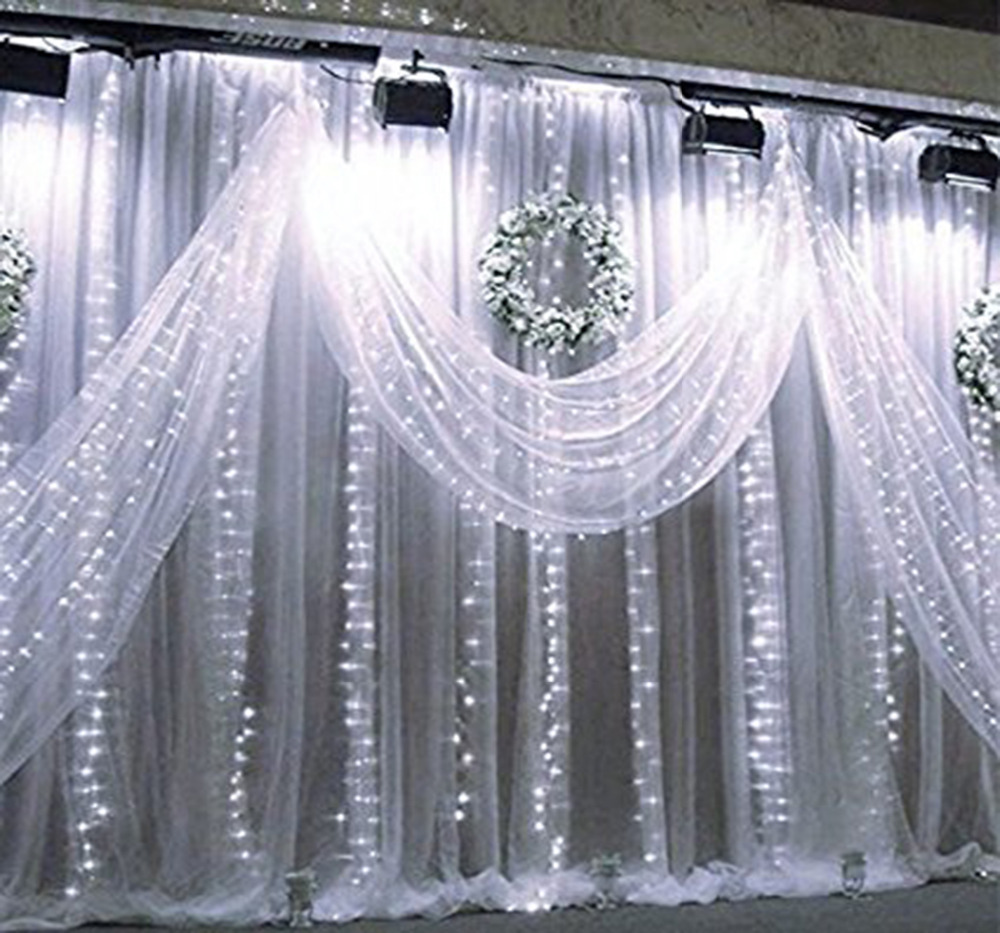 Curtain Lights 3mx3m 300 LED Curtain Fairy String Light. Indoor Starry Light for Xmas ...