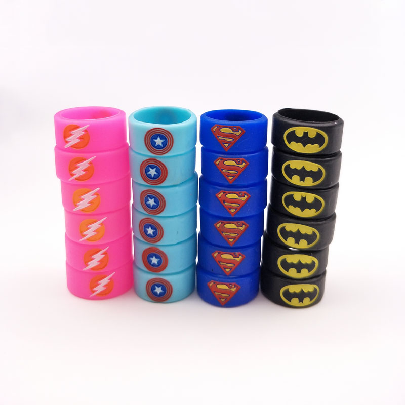Batman Superman Non Slip Rubber Band Silicone Vape Band Ring For E-Cigarette RTA/RDTA Atomizer Mechanical Mod Kit