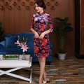 New Arrival Women Velvet Cheongsam Elegant Dress Traditional Chinese Style Qipao China Wedding Dress Low Slits Cheongsam Top