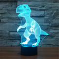 Mundo Animal USB Acrílico Colorido Dinosaurio Nightlight Hogar Oficina Dormitorio LED Lámpara de Mesa Infantil de Regalo de Navidad-114 + 120