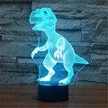 Mundo Animal USB Acrílico Dinossauro Colorido Nightlight Quarto Casa Escritório Lâmpada de Mesa LEVOU Criança Presente de Natal-114 + 120