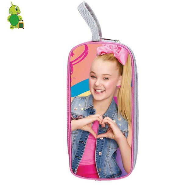 Jojo Siwa Pop Star Cosmetic Case Double Layer Pencil Box Purse Kids