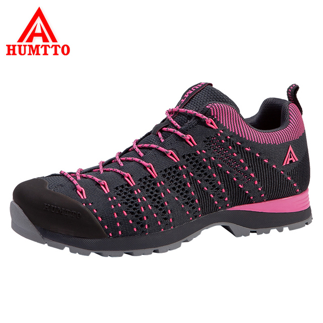 HUMTTO Women's Hiking Shoes Flywire Outdoor Shoes Mesh Breathable Trekking Shoes Lightweight Elastic Soles Walking Sneakers