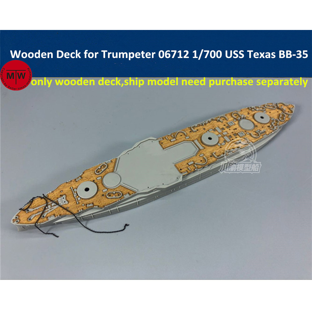 <font><b>1</b></font>/<font><b>700</b></font> <font><b>Scale</b></font> Wooden Deck for Trumpeter 06712 USS Texas BB-35 <font><b>Ship</b></font> <font><b>Model</b></font> Kita CY700039 image