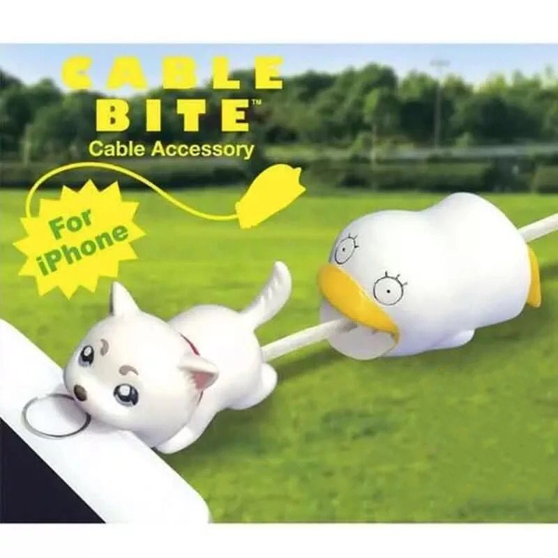 Universal bite cartoon GINTAMAI Elizabeth Dingchun iPhone accessories charger port dust plug data line protective cover