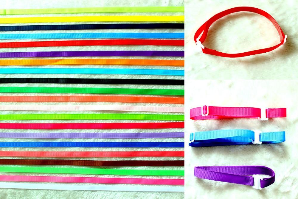600PC Lot Adjustable Ribbon Dog Ties Collars font b Pet b font Dog Neckties Bowties Collars