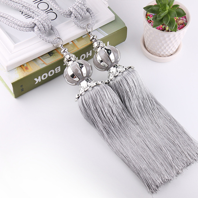 Curtain Accessories Plastic Curtains Hanging Ball Tassel Bandage Home Window Decoration 12 Colors Tassels For