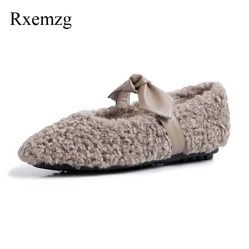 Rxemzg fashion shoes 2019 women round toe butterfly knot handmade shoes women casual shoes slip on comfortable black flats 34 41