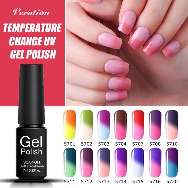 Verntion Nail Design Chameleon Uv Lacquer Temperature Changing Uv
