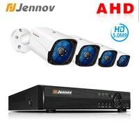 Jennov 5MP 4CH CCTV Камера Scurity Системы комплект IP видео наблюдения Открытый видеонаблюдения видеорегистратор AHD Камера удаленного просмотра P2P HD