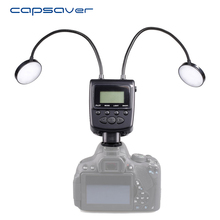 capsaver Metal Tube LED Ring Light Speedlite with LCD Display for Pentax Canon Nikon Olympus Sony Fujifilm Close-up Photography