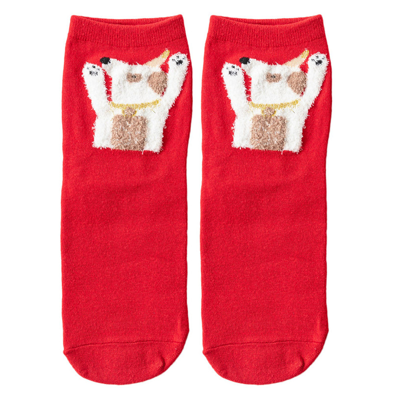 3D Christmas Socks Women Skiing Cycling Cartoon Funny Happy Crazy Cute Amazing Novelty Print Ankle Socks #2s26#F (7)