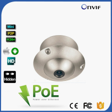 Board Lens Wide Angle Lens Mini Flying Saucer Dome H.264 ONVIF Security Surveillance CCTV IP Camera POE UFO Camera For Elevator