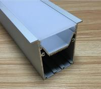 Free Shipping wide Suspended extruded lighting aluminum profile extrusion frames for kitchen cabinet decoration 2m/pcs