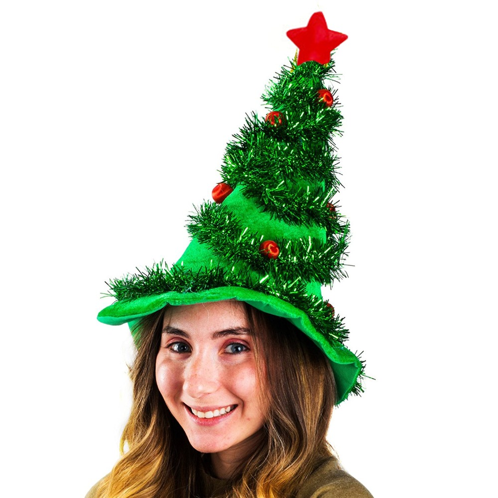 Christmas Tree Hats: FUNNYBUNNY Christmas Tree Hat Party Dress Up Props Cap