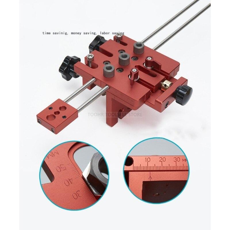 3 en 1 menuiserie trou perceuse perforateur positionneur Guide localisateur gabarit menuiserie système Kit alliage d'aluminium bois travail bricolage outil - 2