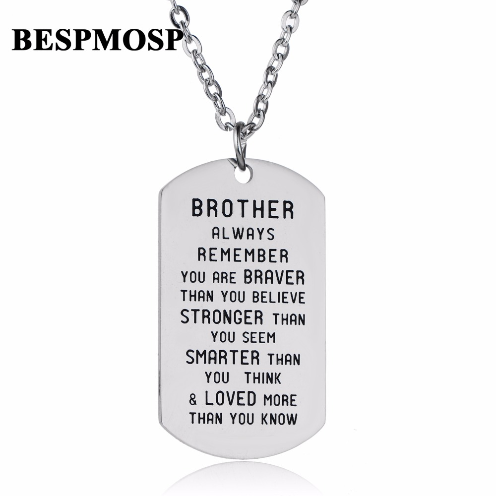 Inspirational You Are Braver Than You Believe Necklaces Family Friends Necklace