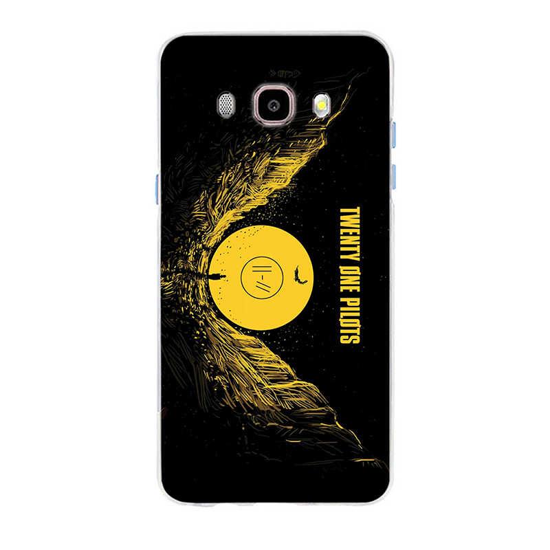 Vinte e Um dos Pilotos 21 Capa de Silicone Suave TPU Caso de Telefone Para Samsung Galaxy S6 S6edge S6Plus A7 S7edge S8 S9 além de A5 J5 J7 2016