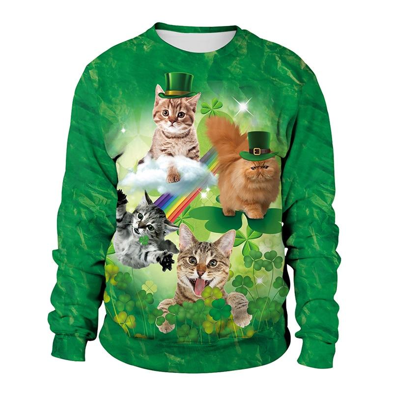 Felpa Green Cat Donna