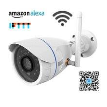 720P IP מצלמה אלחוטי Wifi רשת מצלמת מעקב חיצוני עמיד למים תואם עם Alexa הד להראות ו google בית