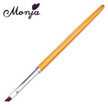 1Pcs/set Nail Pen Brush Metal Handle Nylon Hair Painting Drawing Acrylic UV Gel Polish DIY Art Design Decoration Manicure Salon