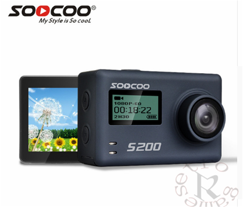 SOOCOO S200 Action Camera Ultra HD 4K NTK96660 + IMX078 with WiFi Gryo Voice control external mic GPS 2.45 touch lcdSOOCOO S200 Action Camera Ultra HD 4K NTK96660 + IMX078 with WiFi Gryo Voice control external mic GPS 2.45 touch lcd