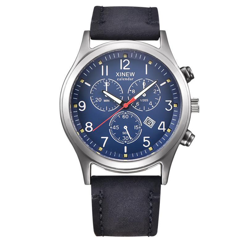 Hot Sale Fashion Men s Leather Band Watches Military Sport Analog Quartz Date Wrist Watch Nov