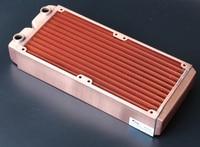 Ke Ruiwo KRw H240mm, Full Copper Manual Radiator, 45mm Rhickness, 240mm High Quality Red Copper Radiators, For 120mm Fan