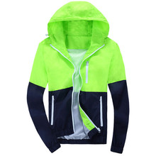 Стильная куртки, причинно ветровка пиджаки молния капюшоном качества высокого тонкий пальто