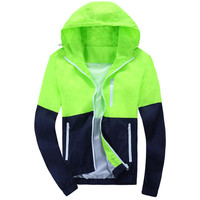 2015 Stylish Fashion High Quality Sport Jacket Coats Men Causal Hooded Outdoor Jacket Men Thin Windbreaker