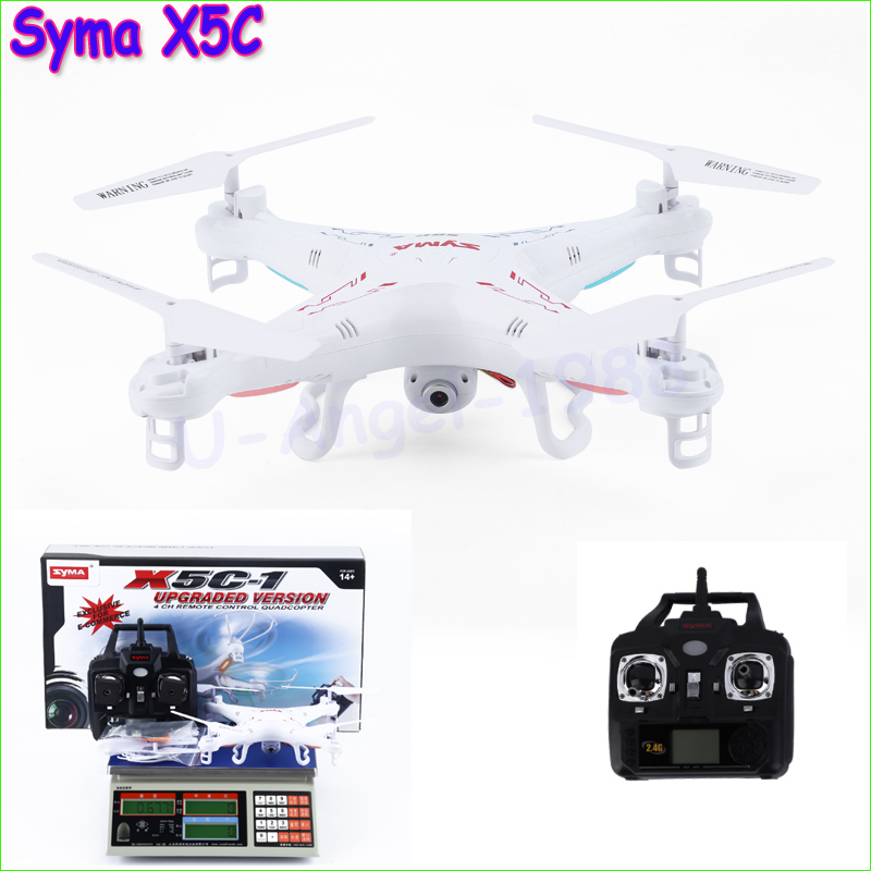 Syma X5C Explorers Quadcopter Drone 2.4G 4CH RC Mode 2 With HD Camera LCD RTF Free shipping syma x5 x5c x5c 1 explorers new version without camera transmitter bnf