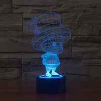 Lamparas 3D Lamp Led Night Light Mood Lamp for Holiday 3D Bulbing Light USB Table Lamp Cartoon ChooperColor Changing As Gift