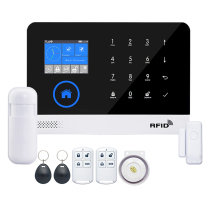 Wireless Home Security WIFI GSM GPRS Alarm system APP Remote Control RFID card Wireless Home Security WIFI GSM GPRS Alarm syst yobangsecurity wifi gsm gprs rfid wireless home business burglar security alarm system auto dial smoke detector wireless siren
