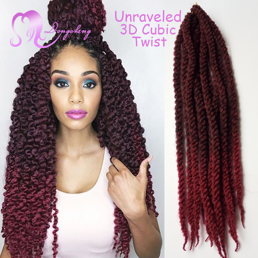 Xpression Braid Crochet 3D Cubic Twist Senegalese Twist