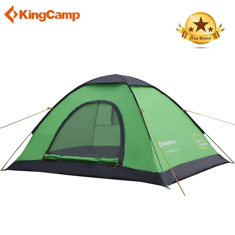KingCamp tente de Camping ultralégère tente 3 saisons tente de Camping en plein air famille randonnée pôle tente rapide automatique série famille