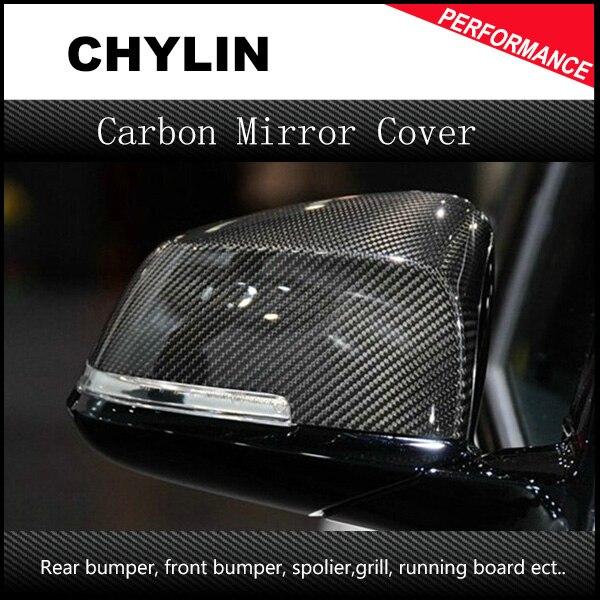 F30 F31 F34 F80 F32 F36 F82 F83 F20 F21 F22 E84 en fiber de carbone remplacement side door mirror cover pour BMW 2012 + 1 2 3 4 x série