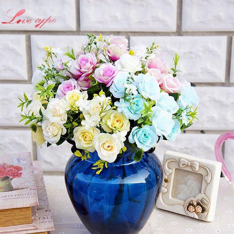 Aliexpress.com : Buy 1Bouquet DIY Silk Artificial Flowers ...