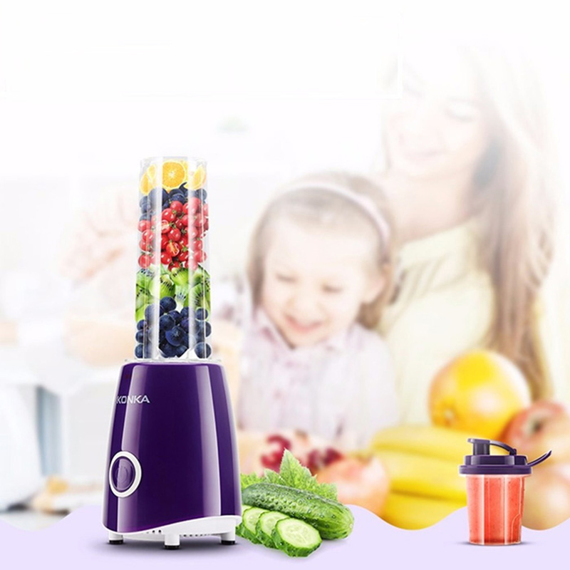 KONKA KJ-JF308 500ml Electric Juicer Blender Fruit Multi Use Fruit Juicer Squeezer Fruit Juice Machine Blender Household konka kj jf302 500ml portable electric juicer multi function household vegetable juice extractor portable blender juicer machine