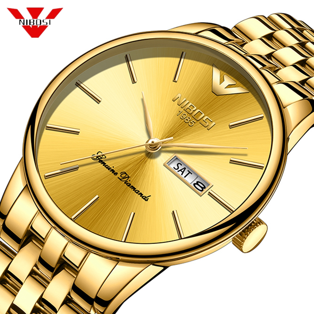 Nibosi Top Brand Luxury Men Watch Waterproof Date Clock Male Sport Gold Watches Men Quartz Wrist Watch Relogio Masculino Saat men watch date waterproof ultra thin clock luxury brand male casual quartz wristwatches men wrist sport watch relogio masculino
