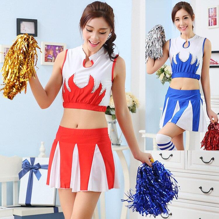 2019 New Soccer Baby Dress Cheerleading Suit Women's Performance Dress Set Cheerleading Costume Women Adults School Uniforms
