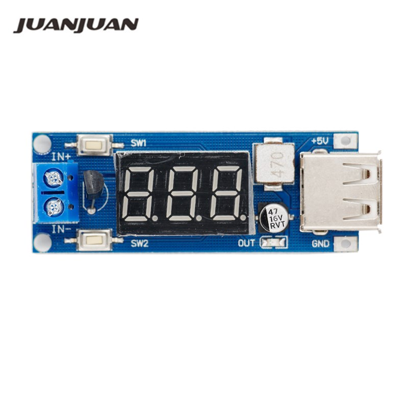 Us 1 47 42 Off Dc Dc Input 4 5v 40v Output 5v 2a Step Down Module Voltmeter 5 V Usb Charger Or Power Supply 40 Off In Voltage Meters From Tools On