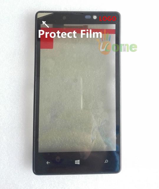 Você kit 100% originalnew para nokia lumia 820 touch screen digitador de vidro com quadro proteger filme e ferramentas abertas 7 pçs/set