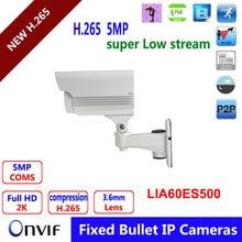 "New 5.0MP H.265 4pcs IR leds IP Camera 1/1.8"" SONY Full HD 3.6mm fixed lens IP66 Waterproof CCTV Camera with POE"