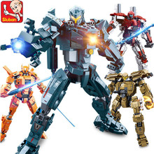 Robot Toy Warriors Pacific Rim Jaeger Gipsy Danger and Battle Damage Building Blocks Set LegoINGLs Educational Toys for Children цена
