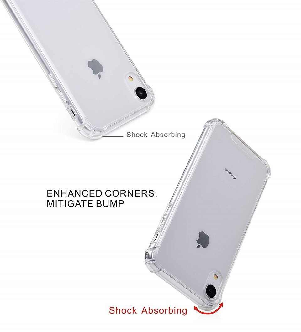 ل فون X حالة سليم واضح لينة غطاء من البولي يوريثان الحراري فون XS ماكس XR X غطاء ل أبل آيفون 7 8 6 S زائد 5 5 S SE سيليكون حالات