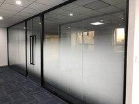 SUNICE Decorative Films Privacy PET Window Film Adhesive Double Gradient Dots Glasses Film Office Living Room Decor 1.52m x 30m
