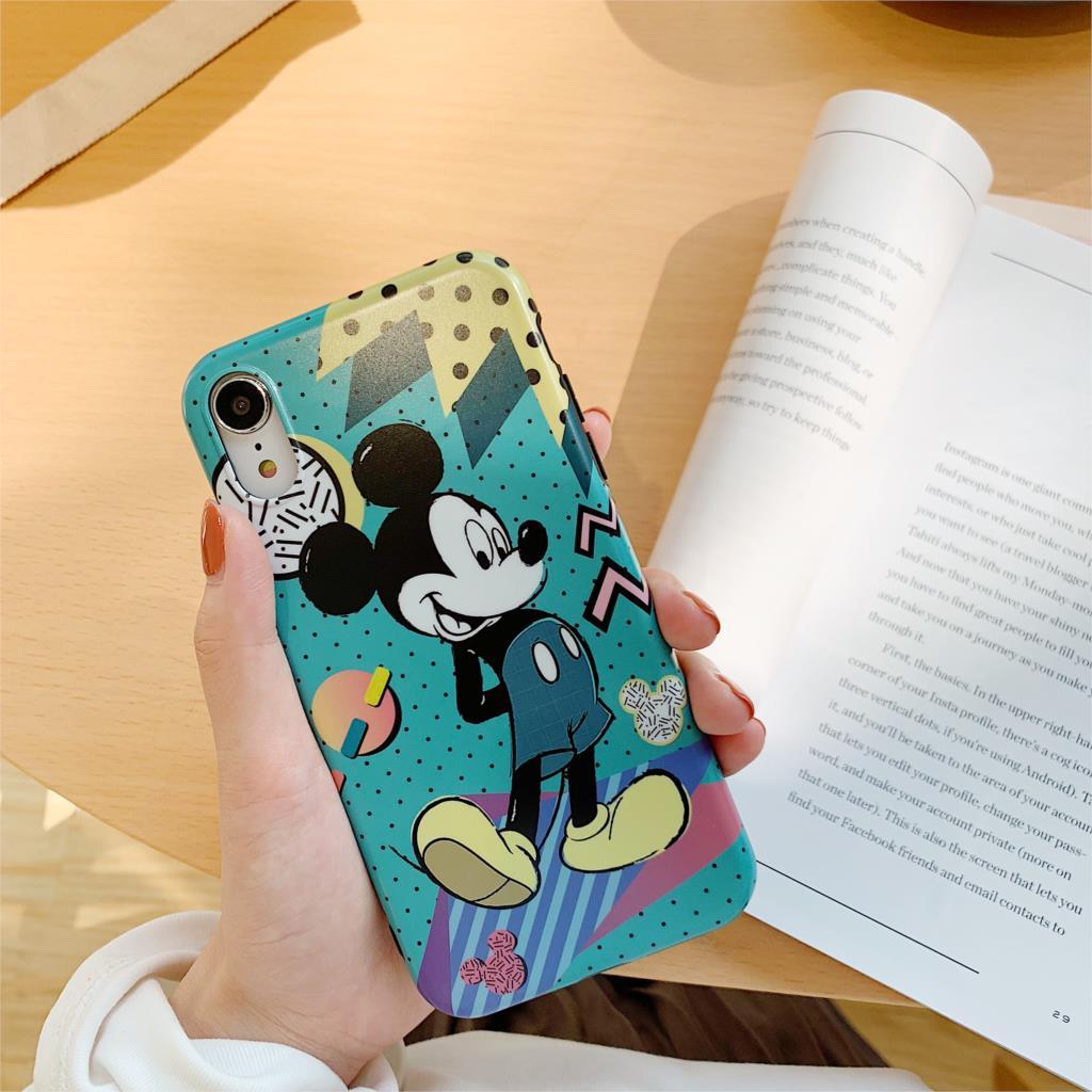 Cute Cartoon Funda For Iphone X Case Love Minnie Mickey Matte IMD Phone Case For Iphone X XR XS Max 6 6S 7 8 Plus Cover Capa