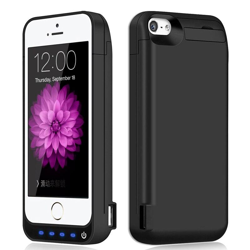 Цена за Горячая 4500 мАч Портативный Резервного Копирования Внешнее Зарядное Устройство Дело Power Bank Зарядка Случаи Обложка Для iPhone 5 5S SE Батареи случае